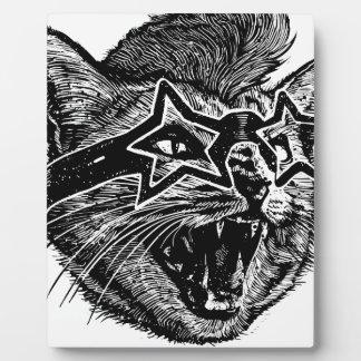 Flippige Katze Fotoplatte