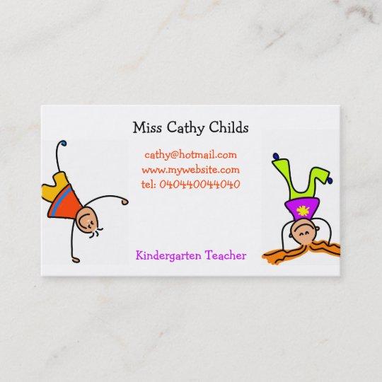 Flippige Kinder Visitenkarte Zazzle De