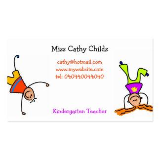Flippige Kinder Visitenkartenvorlage