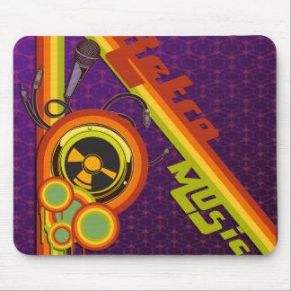 flippige Kunst der Retro Musik vektor Mousepad