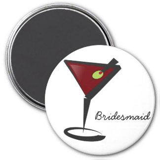 Flippige Martini-Spaß-Brautjungfern-Bevorzugungen Kühlschrankmagnete