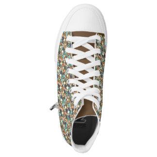 flippige mit Blumenschuhe Hoch-geschnittene Sneaker