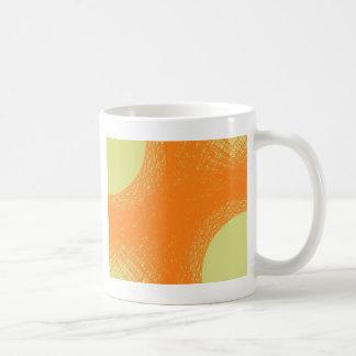 flippige orange Farbe Kaffeetasse
