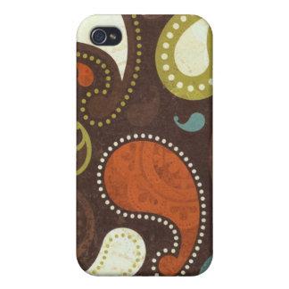 Flippige Paisley-Beschaffenheit Schutzhülle Fürs iPhone 4