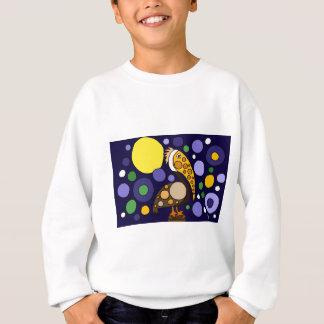 Flippige Pelikan-und Kreis-Strand-Kunst Sweatshirt