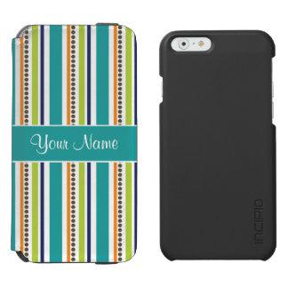 Flippige Retro Streifen und Stellen Incipio Watson™ iPhone 6 Geldbörsen Hülle