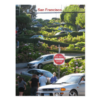 Flippige San Francisco Postkarte! Postkarte