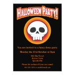 Flippige Schädel-Halloween-Einladung 12,7 X 17,8 Cm Einladungskarte