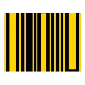 Flippige schwarze und gelbe Rechtecke Postkarte