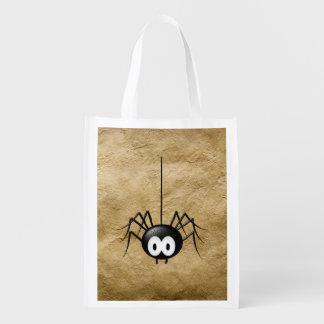 Flippige Spinnen-wiederverwendbare Tasche! Einkaufstaschen