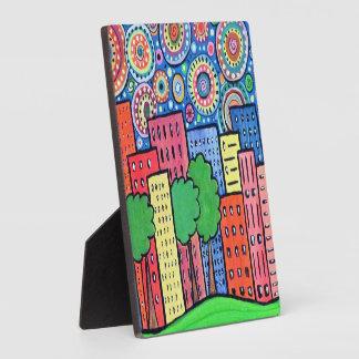 Flippige StadtStadtbild-Grafik-Malerei Fotoplatte