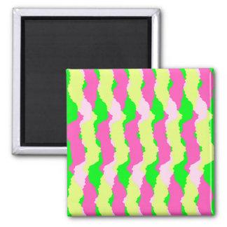 Flippige Streifen 2011 Quadratischer Magnet