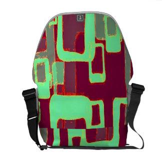 Flippige tadellose geometrische Quadrate Kurier Taschen