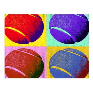 Flippige Tennisbälle Postkarte