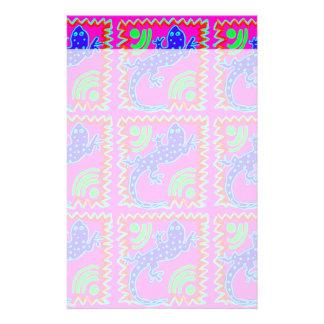 Flippige Tupfen-Eidechsen-Muster-Tier-Entwürfe Personalisierte Büropapiere