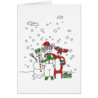 Flippige Weihnachtskarte Grußkarte