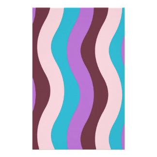 Flippige Wellen-Streifen Briefpapier