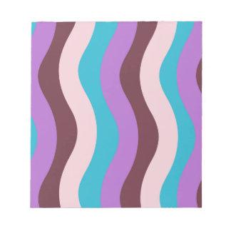 Flippige Wellen-Streifen Notizblock
