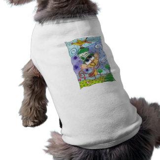 Flippiger Affe-und Bananen-Vogel Shirt
