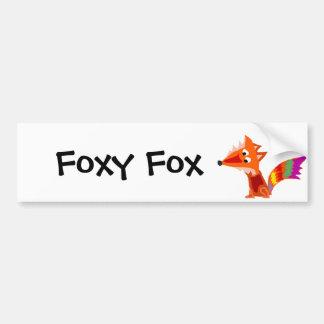 Flippiger bunter roter Fox-Kunst-Entwurf Autoaufkleber