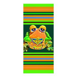 Flippiger Frosch-orange grüne gestreifte Personalisierte Ankündigungen