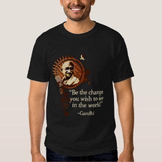 Flippiger Gandhi - seien Sie die Änderung T Shirt
