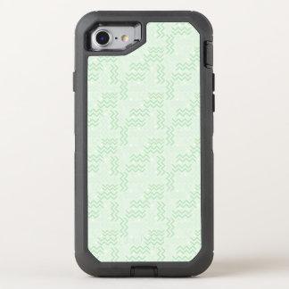 Flippiger grüner Memphis-Pastellentwurf OtterBox Defender iPhone 8/7 Hülle
