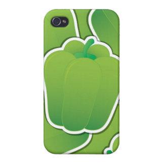 Flippiger grüner Paprika iPhone 4 Case