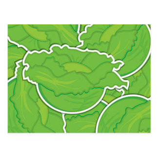 Flippiger Kopfsalat Postkarte