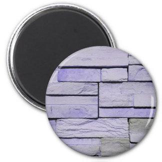 Flippiger moderner Lavendel Staplungsziegelsteine Runder Magnet 5,7 Cm