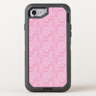 Flippiger Pastellrosa-Memphis-Entwurf OtterBox Defender iPhone 8/7 Hülle