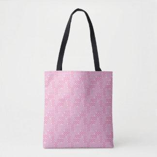 Flippiger Pastellrosa-Memphis-Entwurf Tasche