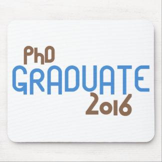 Flippiger PhD-Absolvent 2016 (Blau) Mauspad