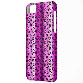 Flippiger rosa Leopard iPhone 5 Fall iPhone 5C Hülle