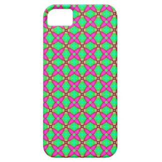 flippiger Telefonkasten des Rosas und des Grüns iPhone 5 Cover