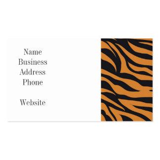 Flippiger Tiger Stripes wildes Visitenkarten Vorlagen