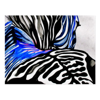 Flippiger Zebra (K.Turnbull Kunst) Postkarte