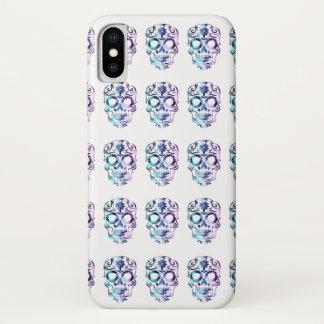 Flippiger Zuckerschädel in PurpleHaze iPhone X Hülle