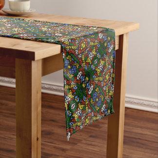 Flippiges buntes Muster Großer Tischläufer