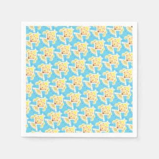 Flippiges Fischthema Papierserviette