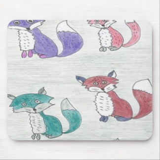 Flippiges Fuchs-Muster Mousepad