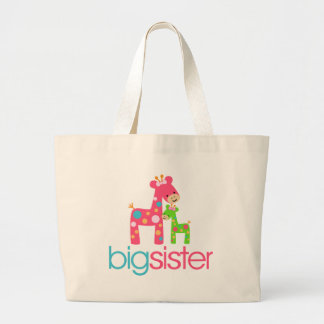 Flippiges Giraffen-große Schwester-T-Shirt Einkaufstaschen