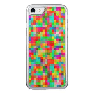 Flippiges helles buntes Pixel-Mosaik Carved iPhone 8/7 Hülle