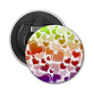 Flippiges helles Herz-Muster Flaschenöffner