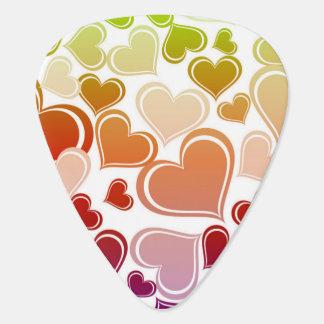 Flippiges helles Herz-Muster Plektrum