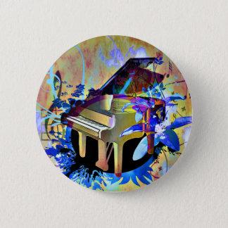 Flippiges Klavier Runder Button 5,1 Cm