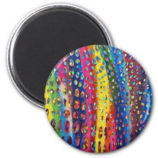 Flippiges künstlerisches LGBTQ Runder Magnet 5,7 Cm