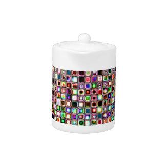 Flippiges Mosaik-Fliesen-Muster mit Juwel-Tönen