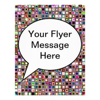Flippiges Mosaik-Fliesen-Muster mit Juwel-Tönen 21,6 X 27,9 Cm Flyer