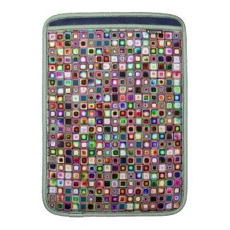 Flippiges Mosaik-Fliesen-Muster mit Juwel-Tönen Sleeves Fürs MacBook Air